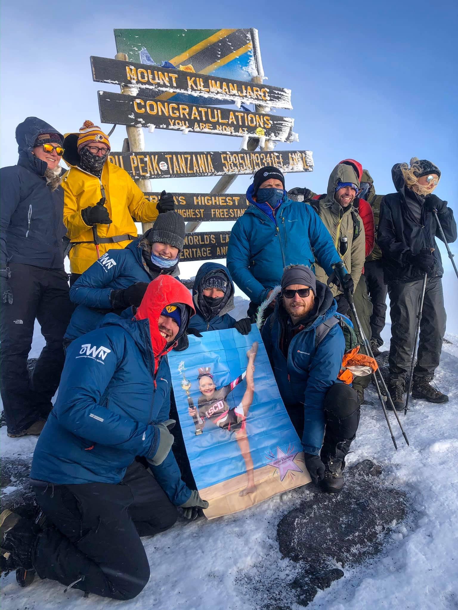 Abbie Sparkle Team Kilimanjaro