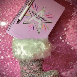 Abbies Sparkle Stocking Filler Book and Pen